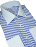 Shirts with white collars and cuffs