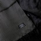 Pure Silk Scarf in Black with White Pin Dot Design from Tootal.