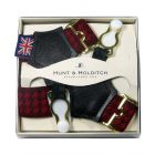 Red Dashes Sock Suspenders from Hunt and Holditch