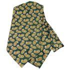 Green Paisley Silk Cravat from Knightsbridge Neckwear