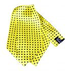 Yellow with Medium Black Polka Dots Silk Cravat from Knightsbridge Neckwear