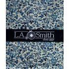 Liberty Print 'Katie & Millie' Design in Blue Cotton Hankie
