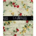 Liberty Print 'Elizabeth' Design in Ivory Cotton Hankie