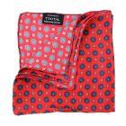 Tootal Silk Pocket Square - Red Mini Geo