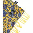 Tootal Silk Scarf - Old Gold Botanical