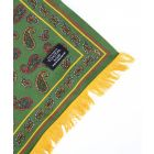 Tootal Silk Scarf with Brushed Silk Back - Green and Gold