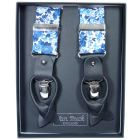 Elysian Day in Blue Liberty Fabric Braces from Van Buck - Limited Edition