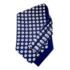 Navy Rounds - Self Tie Silk Cravat from Hunt and Holditch