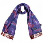 Tootal Silk Scarf - Blue and Red Paisley