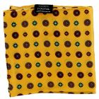 Tootal Silk Handkerchief - Old Gold Flowers Design