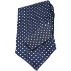 Blue Silk Cravat With White Spots by Soprano