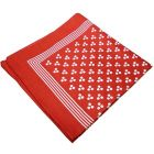 Red 3 spot Cotton Bandana