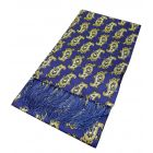 Blue with Paisley Design Silk Aviator Scarf from Knightsbridge Neckwear