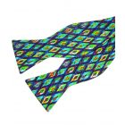 Ikat Jade Silk Bow Tie from Fox & Chave