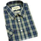 Brighton Blue. Short Sleeve Easycare Shirt from Champion