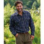 Kilbeggan Blue. Flannel Cotton Shirt from Champion