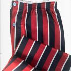 Navy and Wine Regimental Stripe Cotton Pyjamas with Elastic Waist from Somax