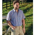 Doncaster Blue - Short Sleeve Easycare Shirt from Champion