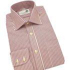 Wine Bengal Single Cuff Cotton Shirt