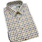Green & Purple Medium Country Check Cotton Shirt from Woods of Shropshire
