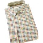Bold Small Country Check Warm Handle Cotton Shirt from Woods of Shropshire