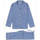 Ladies Brushed Cotton Pyjamas in Navy Gingham from Bonsoir of London