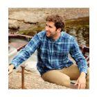 Blue Tartan Grandfather Shirt from Lee Valley