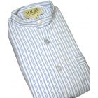 Blue Striped Brushed Cotton Nightshirt by Magee of Donegal