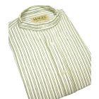 Green Stripe Cotton Grandad Shirt From Magee