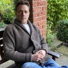 Shawl Collar Wool Jacket in Dark Grey from The Richmond Range by Crystal Knitwear
