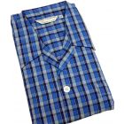 Blue Check Tie Waist Mens Cotton Pyjamas from Derek Rose