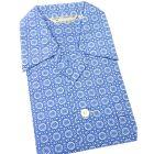 Blue Patterned Tiles Design - Elasticated Waist Cotton Pyjamas by Derek Rose