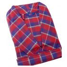 Somax - Mens Dressing Gown in Red Check Brushed Cotton