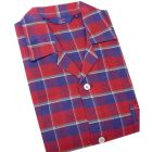 Somax - Mens Pyjamas in Red Check Brushed Cotton