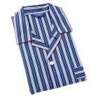 Navy with White Striped - Elastic Waist 2 fold Pyjamas from Bonsoir of London