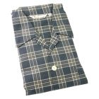 Derek Rose. Mens Tie Waist Brushed Cotton Pyjamas in Brown and Navy Check