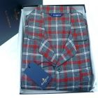 Guasch - Mens Brushed Cotton Pyjamas in Grey and Red Check