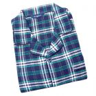 Guasch - Mens Brushed Cotton Pyjamas in Navy and Green Check