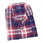 Guasch - Mens  Flannel Pyjamas in Rich Red and Navy Check