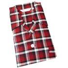 Derek Rose. Mens Tie Waist Brushed Cotton Pyjamas in Warm Red