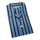 Derek Rose - Romeo - Navy and Blue Stripe Cotton Pyjamas - Elastic Waist