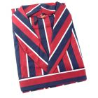 Navy and Wine Regimental Stripe Cotton Gown from Somax