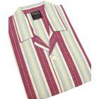 Wine Stripe Flanelette Tie Waist Pyjamas from Somax