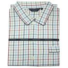 Navy and Red Check Brushed Cotton Check Nightshirt