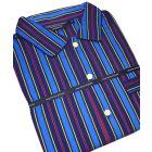 Navy and Wine Regimental Stripe Cotton Nightshirt