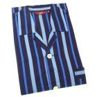 Regent Stripe Mens Cotton Pyjamas with Tie Waist