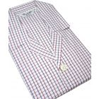 Navy Red Check Elastic Waist Cotton Pyjamas