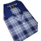 Blue Tartan Brushed Cotton Pyjamas