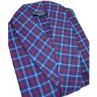 Mid Blue Check Cotton Dressing Gown from Lloyd Attree & Smith