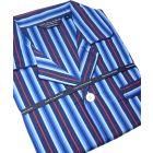 Blue and Red Sateen Stripe Cotton Pyjamas